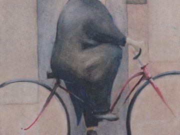 Radovan Veselý – Barevné příběhy / fotogalerie / Radovan Veselý - Důchodce jedoucí na kole ze zaměstnání, foto: archiv autora