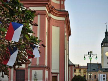 Vlajkovníky v centru Hranic / fotogalerie / Vlajkovníky v centru Hranic, foto: Jiří Necid