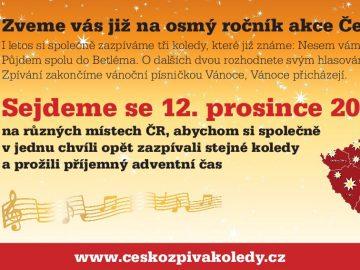 Česko zpívá koledy / fotogalerie / Pozvánka