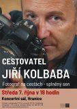 VYPRODÁNO: Cestovatel Jiří Kolbaba v Hranicích