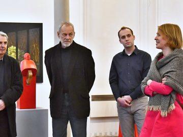 Oldřich Šembera & Jiří Žlebek – Obrazy a sochy / fotogalerie / Vernisáž výstavy Oldřich Šembera / Jiří Žlebek - obrazy / sochy, foto: Jiří Necid