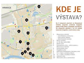 Galerie v ulicích města / fotogalerie / Mapa se zaznačenými výlepovými plochami
