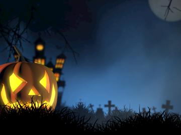 Halloweenské nocování
